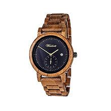 Náramky - Drevené hodinky Maximilian čierne - 11229538_