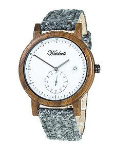 Náramky - Drevené hodinky Maximilian s lodénovým remienkom - 11229571_