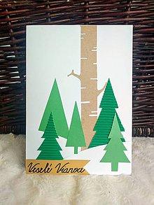 Papiernictvo - Vianočné pozdravy 2 kusy - 11228352_