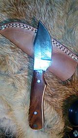 Nože - Damaskový lovecký nôž - 11228384_