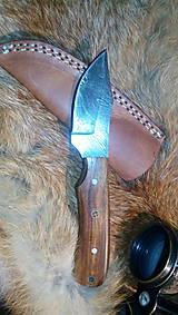 Damaskový lovecký nôž (Hnedá)