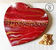 Dekorácie - Červené srdce - 11230505_