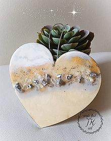 Dekorácie - Srdce živicové - 11230476_