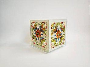 Svietidlá a sviečky - Sklenený svietnik maľovaný -slovenský vzor - 11229767_