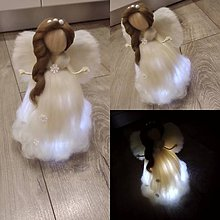Drobnosti - Plsteny LED anjel - 11231291_
