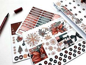 Drobnosti - Decembrový set samolepiek - 11227606_