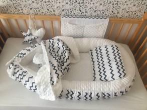Textil - Detské hniezdo, dečka ,vankúšik, organizer na postielku - 11230356_