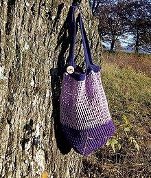 Nákupné tašky - Sieťovka Fialka - 11230615_