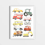 Detské doplnky - Art Print - autá - 11230704_