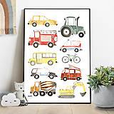 Detské doplnky - Art Print - autá - 11230707_