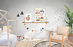 Detské doplnky - Art Print - autá - 11230709_
