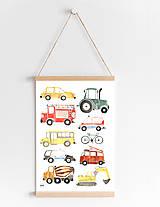 Detské doplnky - Art Print - autá - 11230710_