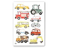 Detské doplnky - Art Print - autá - 11230711_