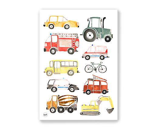 Art Print - autá
