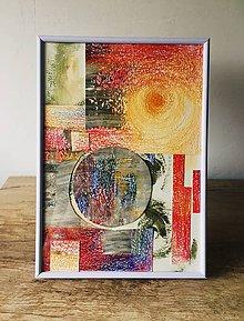 Obrazy - Koláž-farebná abstrakcia - 11230362_