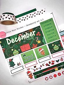 Drobnosti - Decembrový set nálepiek - NOVÉ - 11230835_