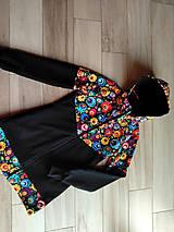 Tehotenské/Na dojčenie - Vzorovana nosiaca mikina - 11230570_