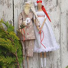 Bábiky - Vianočný pár - 11228919_