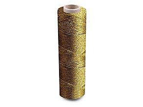 Galantéria - Vyšívacia niť Zlatka 100 m - zlatá - 11228786_
