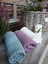 Úžitkový textil - Ľanový uterák Pastel Shades II (Modrá) - 11230489_