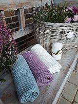 Úžitkový textil - Ľanový uterák Pastel Shades II (Modrá) - 11230491_