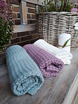 Úžitkový textil - Ľanový uterák Pastel Shades II (Modrá) - 11230493_