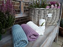 Úžitkový textil - Ľanový uterák Pastel Shades II (Modrá) - 11230494_