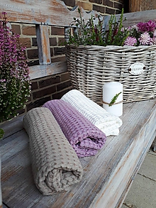 Úžitkový textil - Ľanový uterák Pastel Shades I (Fialová) - 11230514_