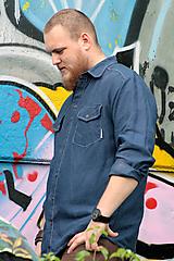 Oblečenie - ZĽAVA! Ľanová košeľa Leslav modrá s vreckami - 11233363_