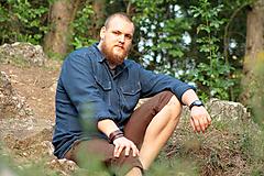 Oblečenie - ZĽAVA! Ľanová košeľa Leslav modrá s vreckami - 11233370_