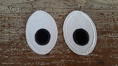 Materiál ručne robený - oči - aplikácia - 11233573_