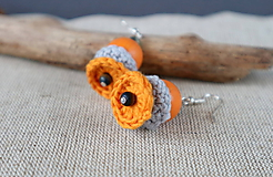 Náušnice - jesenné pomaranče - 11231614_