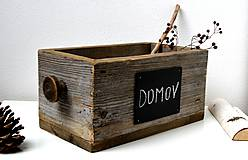 Nábytok - Debnička zo starého dreva s tabuľkou - 11232259_