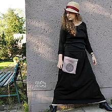 Sukne - Dlouhá sukně se lněnou kapsou - 11233649_