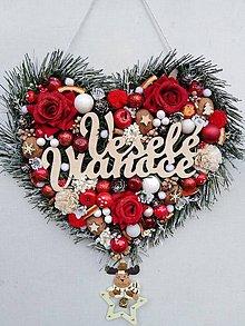 Dekorácie - Vianočné srdce - 11233522_