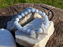 Náramky - modrý anjel-,,angelit,,-náramok - 11235314_