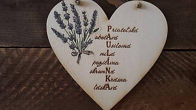 Dekorácie - Srdce s menom Paulínka - 11234825_