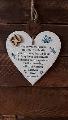 Dekorácie - Gratulačné srdce  50 tka - 11234884_