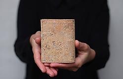 Peňaženky - Korková peňaženka unisex - strieborná - 11233268_