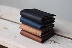 Tašky - Korková peňaženka unisex - čierna - 11233285_