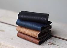 Peňaženky - Korková peňaženka unisex - hnedá tabacco - 11233353_