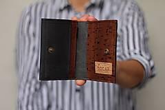 Tašky - Korková peňaženka unisex - čierna - 11233371_
