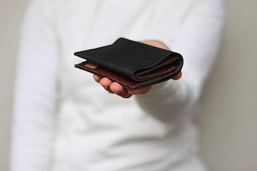 Korková peňaženka unisex - čierna