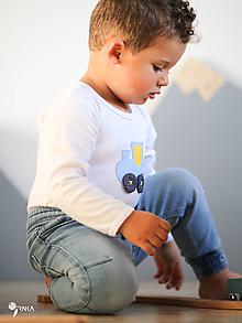 Detské oblečenie - body VLÁČIK (dlhý/krátky rukáv) - 11231767_