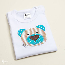 Detské oblečenie - body MACÍK (dlhý/krátky rukáv) (Detské body (56 - 98)) - 11231927_