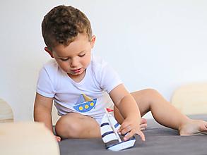 Detské oblečenie - body PLACHETNICA (dlhý/krátky rukáv) - 11233859_