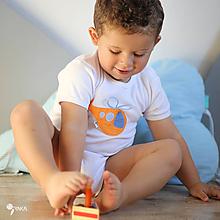 Detské oblečenie - body HELIKOPTÉRA (dlhý/krátky rukáv) - 11234432_