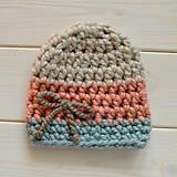 Detské čiapky - hrubá čiapka pre škôlkárku - 11232605_