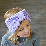 Detské čiapky - lila MAXI Čelenka BEAUTY - 11232690_