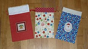 Mikulášske/vianočné vrecúška na drobnosti  (posledné kusy)